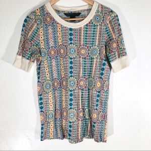 Marc by Marc Jacobs retro print fitted tee small
